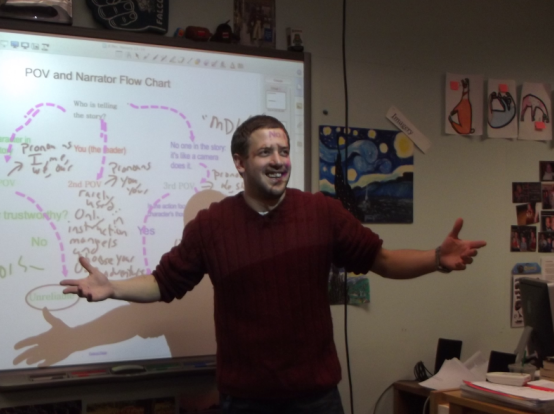 Mr. Domokos, HRHS English teacher