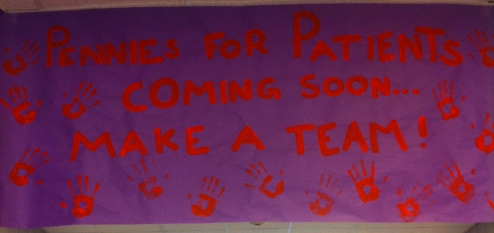 Help raise fund for Pennies for Patients. PhotoCo: Lara Mathews