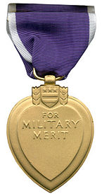 Back of Purple Heart Award. PhotoCo: www.wikipedia.org