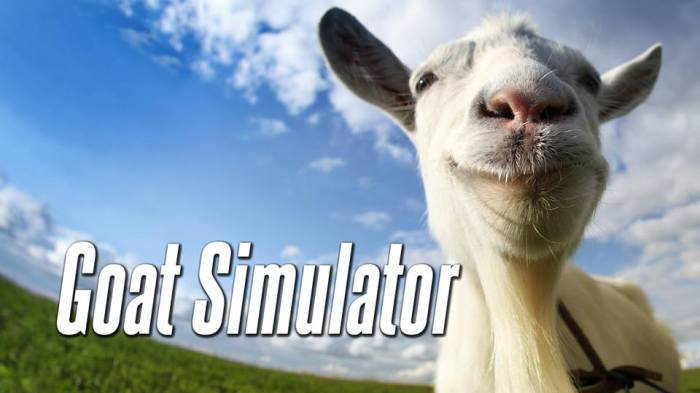 Title page of the game. PhotoCo: http://coffeestainstudios.com/games/goat-simulator
