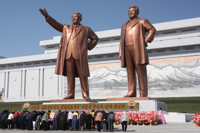 Statues of Kim Il Sung and Kim Jong Il