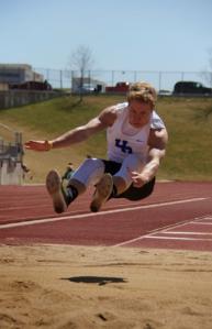 Ben Morgan doing a Long Jump Photoco: