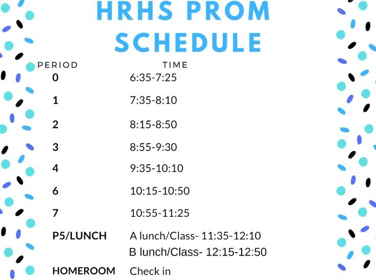prom schedule
